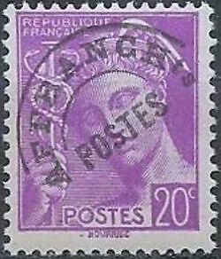 """FRANCE PREOBLITERE TIMBRE STAMP N°78 """"TYPE MERCURE 20c LILAS """" NEUF x TB"""