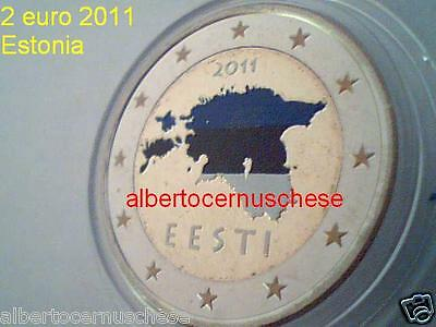 2 euro 2011 Estonia fdc smaltato colorato Estonie Eesti Estland Eesti Эстония