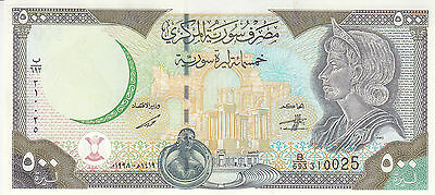 SYRIA 500 LIRA POUNDS 1998 P-110 with map UNC */*