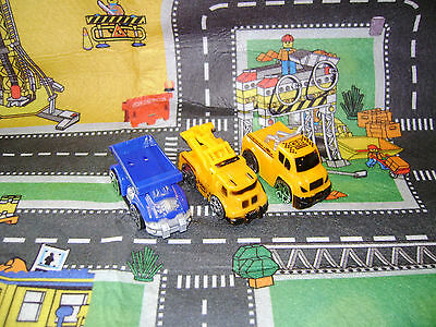 New Boxed My Dream Mat Road Map Play Mat With 3 Construction Vehicles Sale !!!