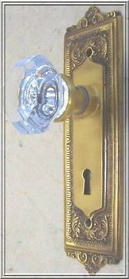 Finest 24% Lead Crystal OLD TOWN Passage Door Knob Set -CUSTOM MADE-GUARANTEED