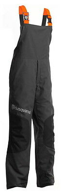 Husqvarna Classic Bib n Brace Carpenter Chainsaw Safety Trousers Black Small