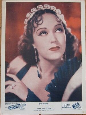 1930s FAY WRAY Portrait - Colgate/Palmolive Advertising - Cuba