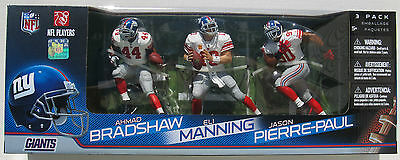 McFARLANE'S NFL NEW YORK GIANTS AHMAD BRADSHAW ELI MANNING & JASON PIERRE-PAUL