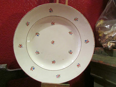 2 anciens plats en faience de sarreguemines digoin opaque vers 1925 decor floral