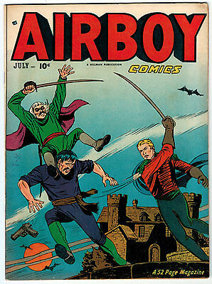 Airboy Comics Volume 8 #6 6.5 Off-White Pages Golden Age