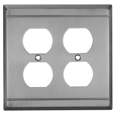 Franklin Double Duplex Wall Plate Antique Pewter