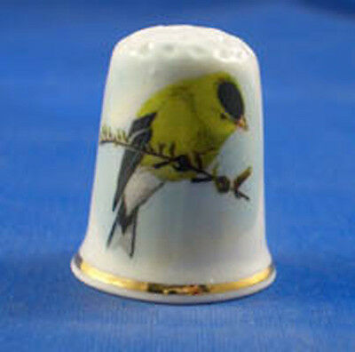 FINE CHINA THIMBLE - EASTERN GOLDFINCH