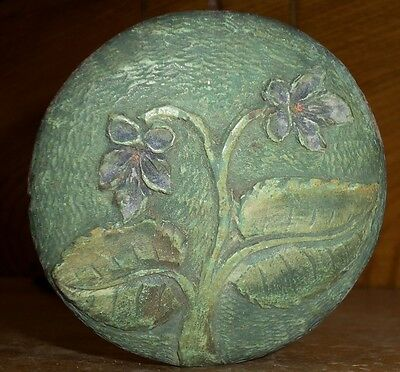 Antique Wood Umbrella Handle - Floral Decoration - Rich & Son Makers