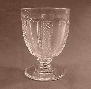 Flint Cable Early American Pattern Glass Egg Cup