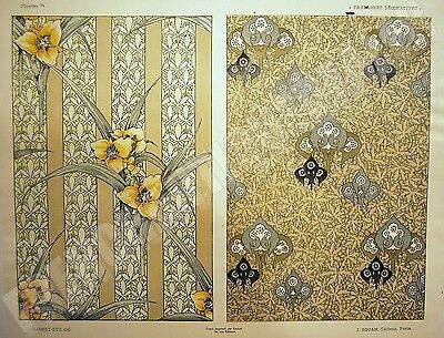 FANTAISIES DECORATIVES planche 34 HABERT-DYS ART NOUVEAU 1887 impr. Gillot ROUAM