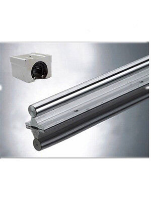 Linear Rail Support Unit SBR25-1000mm Shaft Supported+2pcs SBR25UU Slide Bearing
