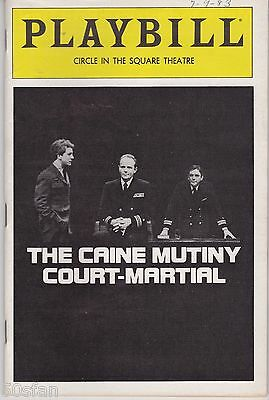 Playbill - The Caine Mutiny Court-Martial - July 1983 - John Rubinstein