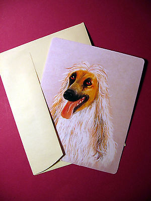"""Afghan Hound"" 1 - Dog Greeting Card - Blank Note Card - sku# 61"