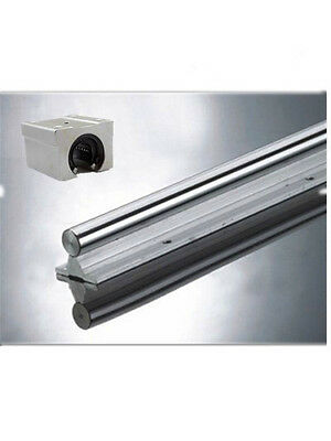 2pcs Linear Rail Support SBR12-500mm Shaft Supported  NOT include SBR12UU block