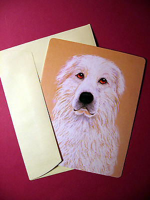 """Great Pyrenees"" 1 - Dog Greeting Card - Blank Note Card - sku# 50"