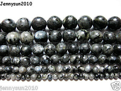 Natural Larvikite Labradorite Gemstone Round Beads 16'' 4mm 6mm 8mm 10mm 12mm