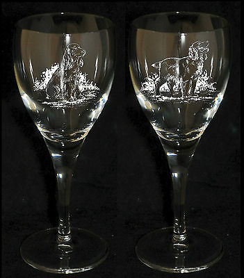COCKER SPANIEL GIFT - Boxed PAIR WINE GLASS *DOG GIFT*
