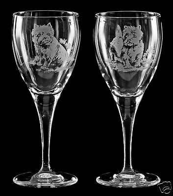 WEST HIGHLAND TERRIER GIFT - Boxed PAIR WINE GLASS *DOG GIFT*