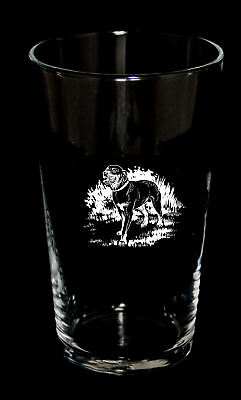 PINT BEER GLASS with ROTTWEILER design *Dog Gift*