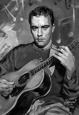Dave Matthews, b&w, singer songwriter musiciart, print on archival paper by Star