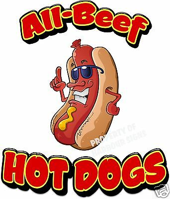 Italian Beef Food  Sticker Sign Restaurant Concession Choose Your Size DECAL