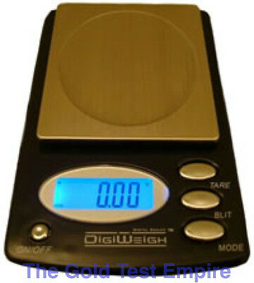 100AX Digital Pocket Scale 100 x .01 G and Calibration Weight Reloading Gold Gem