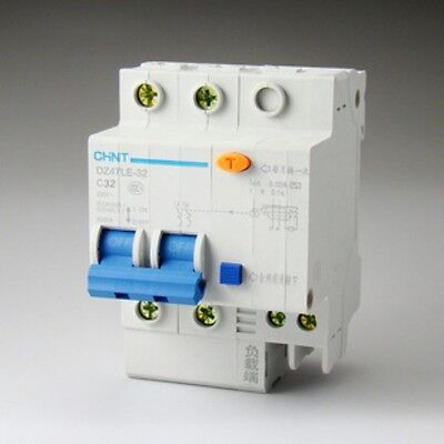 Earth Leakage Protection Circuit Breaker DZ47LE-63 2p C40 40A 230V SN-T