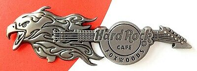 2012 Hard Rock Cafe Foxwoods 3D Flaming Eagles Guitar Le Pin