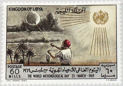 LIBYEN LIBYA 1969 274 359 WMO World Meteorological Day Wether Balloon MNH