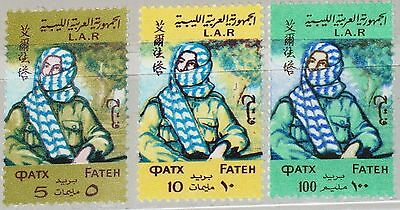 LIBYEN LIBYA 1971 322-24 404-06 Fight liberation Palestine Al Fatah Fighter MNH
