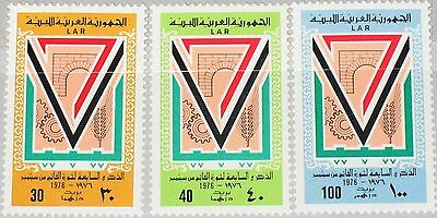 LIBYEN LIBYA 1976 536-38 623-25 7th Ann Sep. Revolution Agriculture Industry MNH