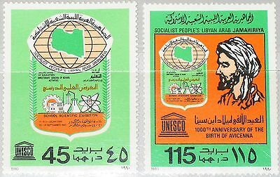 LIBYEN LIBYA 1980 849-50 871-72 School Scientific Exhb UNESCO 1000 Bday Ibn Sina