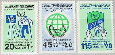 LIBYEN LIBYA 1981 857-59 910-12 Year of Disabled Jahr der Behinderten UPA MNH
