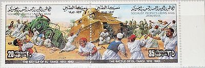 LIBYEN LIBYA 1982 1037-38 985 Resistance IT Colonization Battle El Tangi War MNH