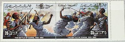 LIBYEN LIBYA 1982 1039-40 986 Resistance IT Colonization Battle Sokna War MNH