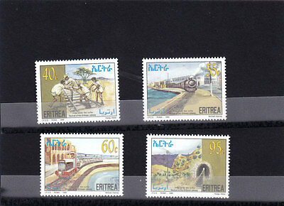 stamps ERITREA 1996 SC 278-281 REVIVAL ERITREA RAILWAY IPZS ITALY MNH SET ER#9