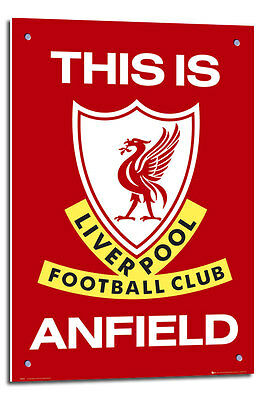 Liverpool FC Poster This Is Anfield  Float Mounted Free Delivery