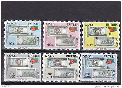 stamps ERITREA 1999 SC#322-327 ERITREA NATIONAL CURRENCY (6 VALE) MNH ER#15 LOOK