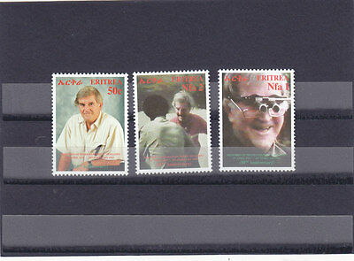 stamps ERITREA 2003 SC 364-366 PROF, FRED C.HOLLOWS MNH SET ER#17 LOOK