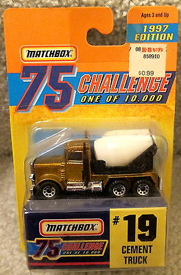 Matchbox 1997 Gold 75 Challenge #19 CEMENT TRUCK LIMITED EDITION