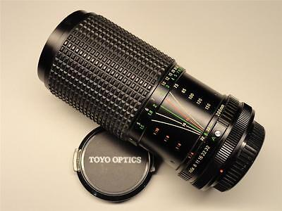 Toyo Optics Five Star MC 75 to 200 mm f 4.5 Zoom Lens For Canon FD Mount