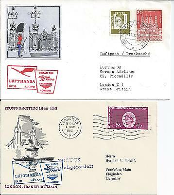 1961 Frankfurt--London.. Return Flight