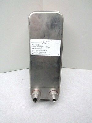 NEW Alfa Laval AC10-16 Stainless Brazed 16 Plate Heat Exchanger 650 PSI R410A