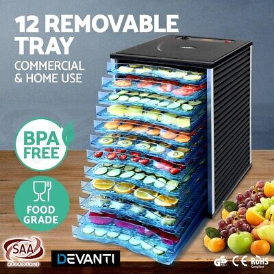 12 Food Dehydrator Commercial Preserve Yogurt Fruit Dryer Jerky Maker