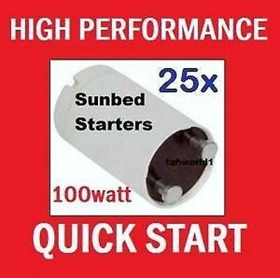 25 x Starters for Fluorescent lamps & Philips Sunbed Tanning Tubes etc 70w -125w