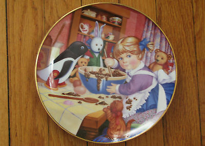 "Carol Lawson Franklin Porcelain Collector's Plate ""Little Gourmet"" 1988"
