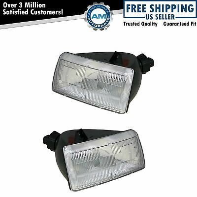 Headlights Headlamps Left & Right Pair Set for 91-95 Dodge Grand Caravan Voyager