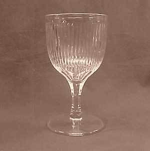 Clear Flint Prism Early American Pattern Glass Goblet