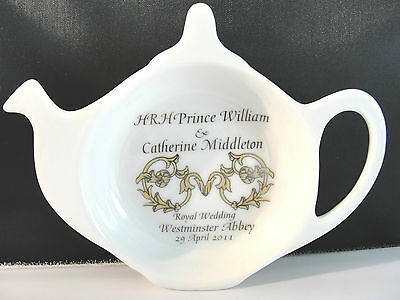 COMMERATIVE TEA CADDY HONORING HRM PRINCE WILLIAM CATHERINE MIDDLETON WEDDING